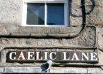 Gaelic Lane naambordje Aberdeen