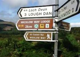 Lough Dan wegwijzer