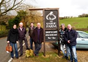 Onze groep bij Garlick Farm Wight klein