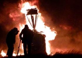 Hogmanay Burning the Clavie