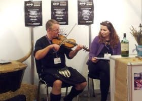 Visit Scotland Expo 2014 Northern Roots violist klein