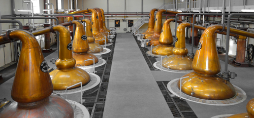 macallan Distillery stills