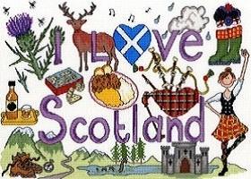 I love Scotland in kruissteek