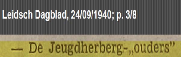 jeugdherberg 1940