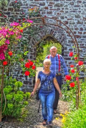 Clovelly Court Garden en wandeling Hans B en Hanny klein