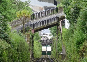 Lynton Lynmouth Cable Train klein