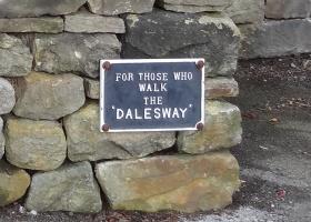 Dales Way Ilkley naar Burnsall (15) bordje klein