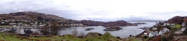 Uitzicht op Tarbert panorama klein