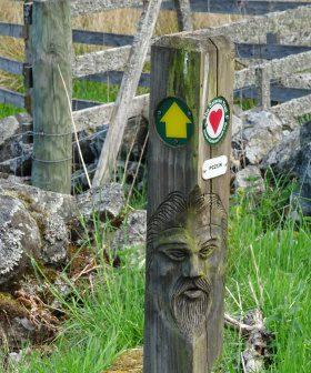 Mooi Cateran Trail paaltje kleiner