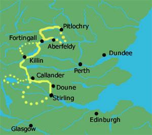 Highland-Glens kaartje