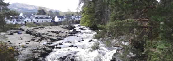 Killin Falls of Dochart (2) panorama
